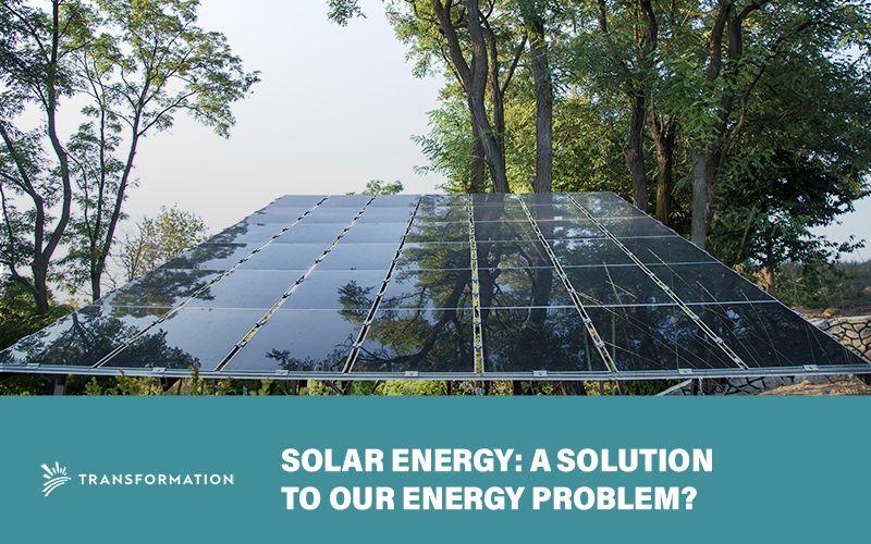 solar energy panels in real outside setting